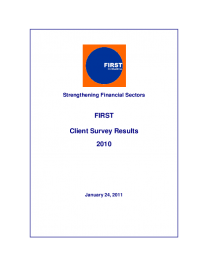 FIRST Client Survey 2011