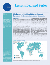 Challenges in Building Effective Deposit Insurance Systems in Developing Countries